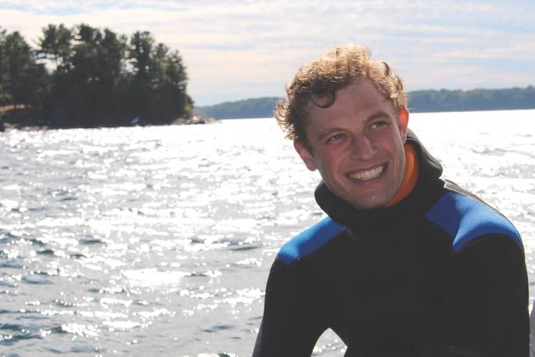 Shay Osler, Robotics Engineer, after product testing on Lake Champlain (Photo: Greensea)