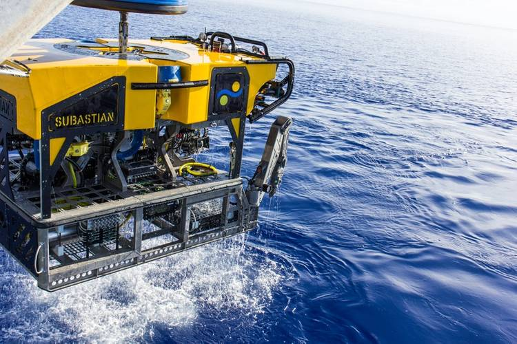 ROV SuBastian on Sea Trials. (Photo: Schmidt Ocean Institute)