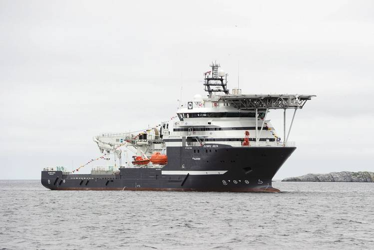 MMT has taken on the DP 2 survey/IMR vessel M/V Olympic Delta on a long-term contract with the Norwegian ship owner Olympic Subsea ASA.  (© Olympic Subsea ASA)