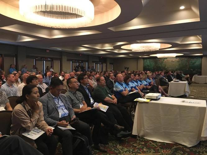 The Teledyne Marine Technology Workshop kicked off Monday, October 16, 2017 in San Diego, Calif., at the Catamaran Resort. The event attracted more than 270 registrants from around the globe, to meet with more than 100 representatives from Teledyne Marine to discuss emerging topics and technologies in the global ocean and subsea space. (Photo: Teledyne Marine)