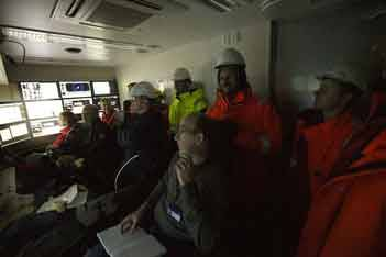Tense expectations at speed trials in the North Sea