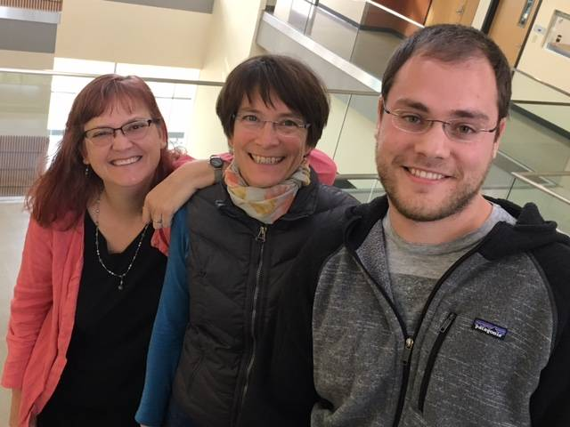 """""""They are the foundational recyclers of the lake."""" Trina McMahon (left) Katrina Forest and UW-Madison graduate student Jeff Dwulit-Smith have helped hone our understanding of actinobacteria. (Credit: Aaron R. Conklin)"""