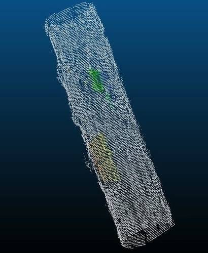Tunnel sonar cross-section.