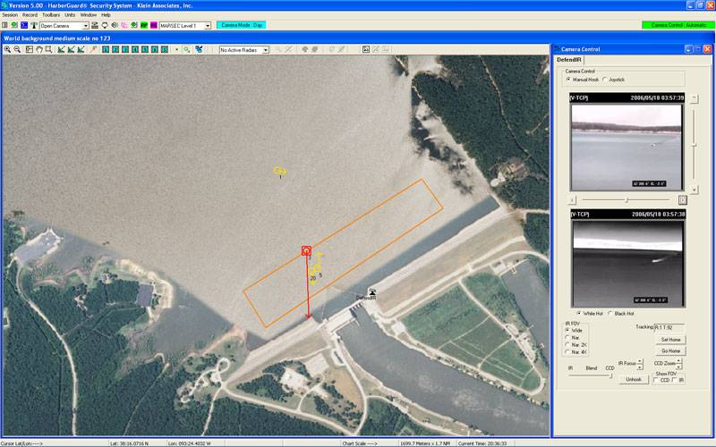 """Typical HarborGuard-PRO IWDSS Screen Shot - """"Critical Dam Site"""" (Image: Klein)"""