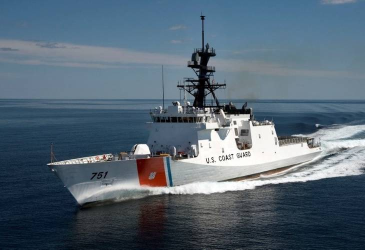 USCG Fast Response Cutter with C2 System
