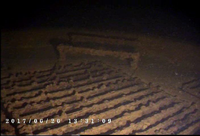 Video frame grabs provided by the Phantom T4H ROV (Photo: Deep Ocean Engineering)