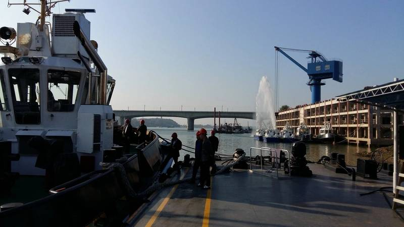 Visitors at Damen Shipyards Changde Photo Damen