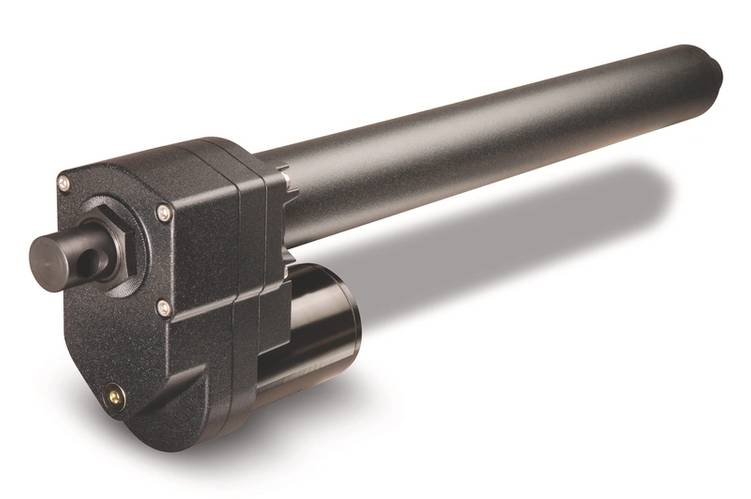 Warner engineers configured two identical K2x ball screw linear actuators, which operate at 24 VDC, with a 2,800 lbs (1,270 kg) load capacity (Photo: Warner Linear)