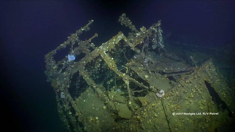 Wheelhouse of the USS Ward (Photo courtesy of Paul G. Allen)