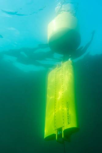 Wirewalker provides wave powered profiling (Photo: Del Mar Oceanographic)