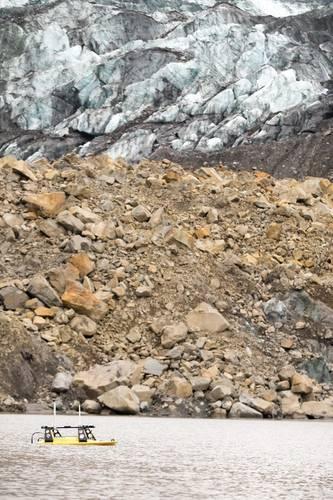 Oceanscience Z-Boat surveys the Taan Fiord after the landslide