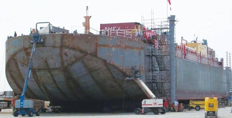 Figure D - 311' x 68' x 24.5' 60,000 BBLS Barge