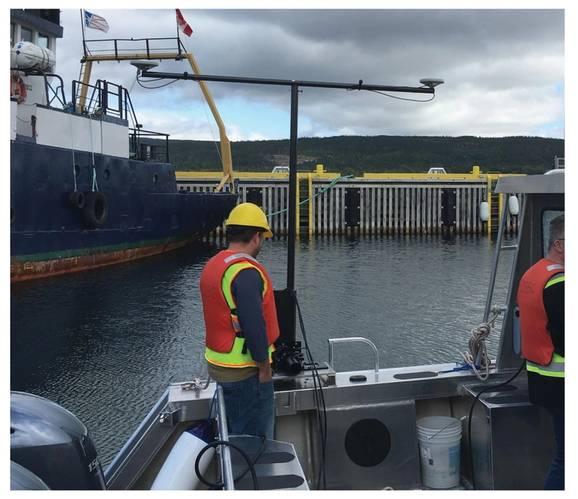 Somewhere in Newfoundland, Memorial University. NORBIT iWBMSh-STX with Portus Pole