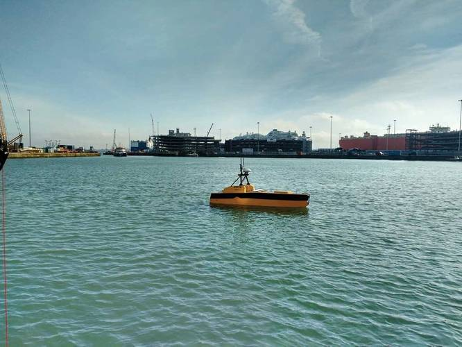 ASV C-Worker 5 operating autonomously